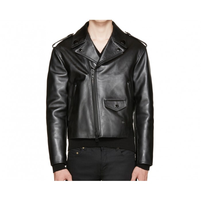 Men's Calfskin Biker Leather Jacket