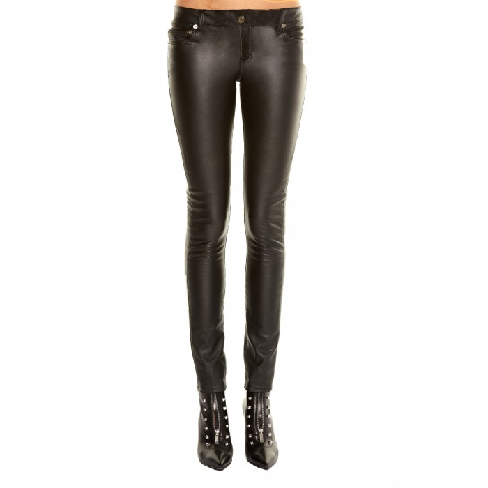 d784e6868f800 Women low Rise 5 pocket Jeans Style Sheep Leather Pant