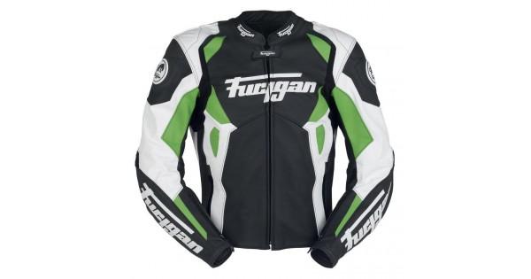 Furygan spyder leather jacket black&white maxi dress
