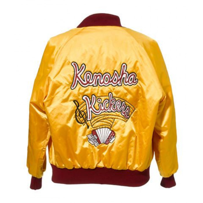 Kenosha Kickers Embroidered yellow Satin Movie Replica Halloween Jacket