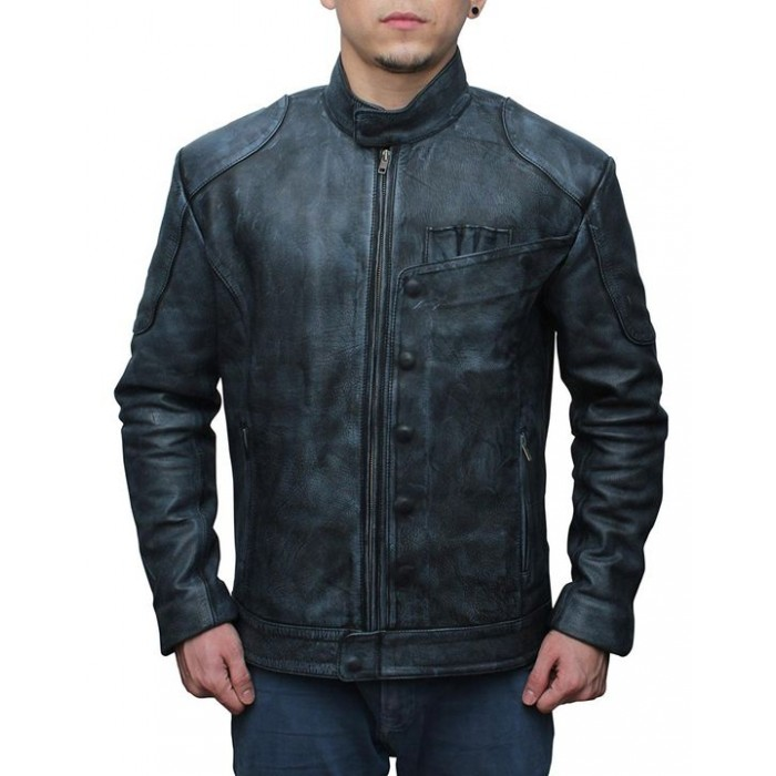 Star Wars The Force Awakens Fighter Black Leather Jacket