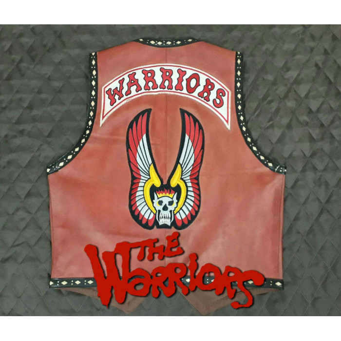 The Warriors Movie Leather Vest Vintage Leather Original Replica