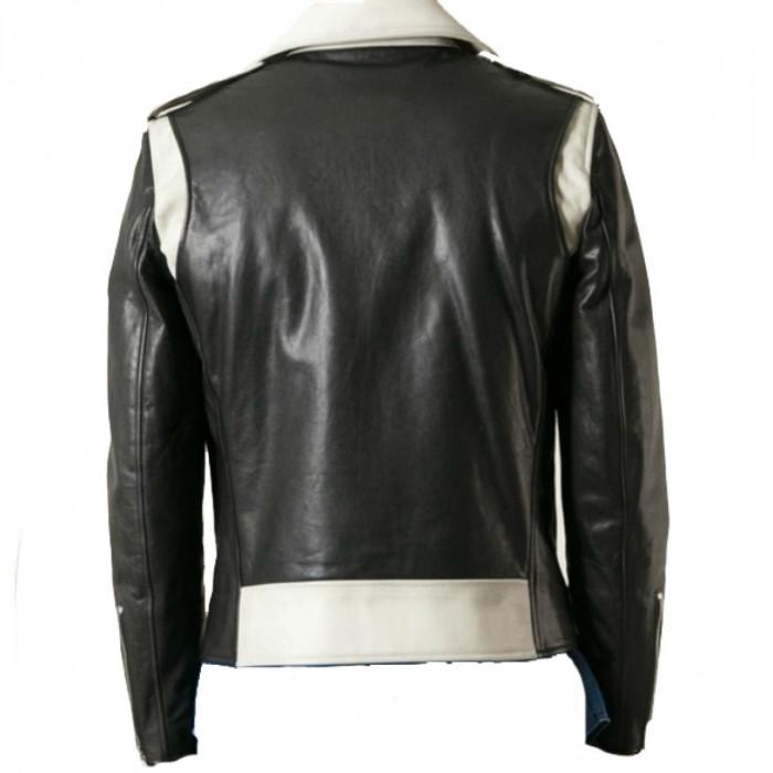 54b0e63ad Men's CalfSkin Marlon Brando Motorcycle Biker Leather Jacket