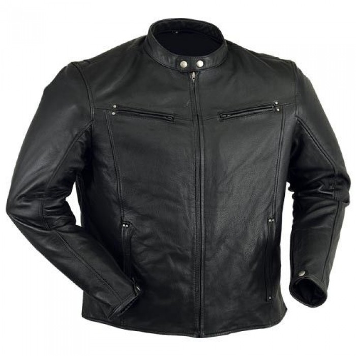 Light Weight Premium Sheepskin Motorcycle Biker Leather Jacket