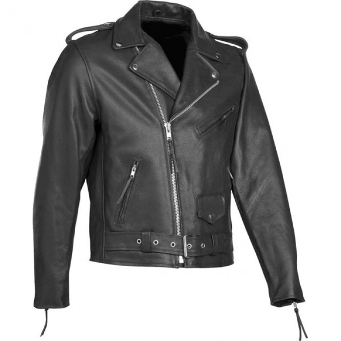 Men's Mild Leather Motorcycle Biker Jacket
