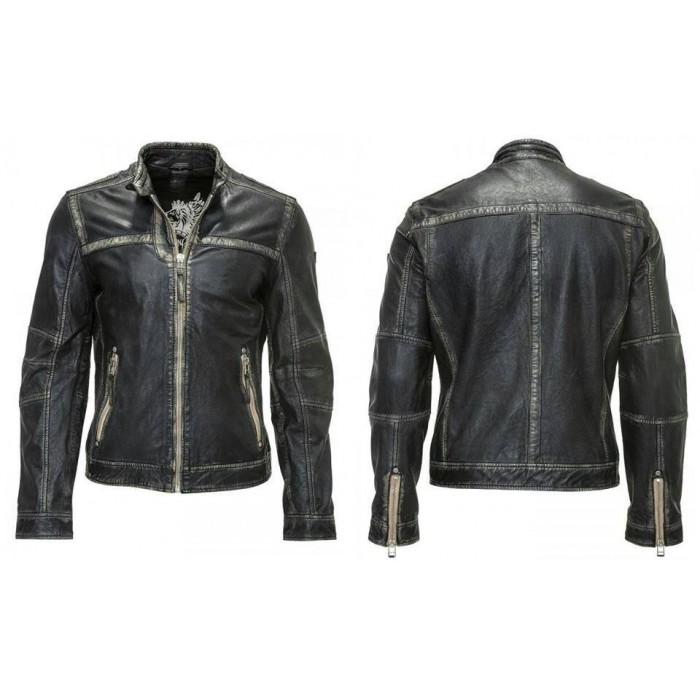 Old Style Vintage Beige Retro Leather Jackets