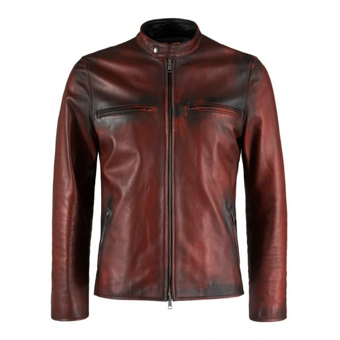Classic Style Vintage Deep Red Retro Leather Jackets