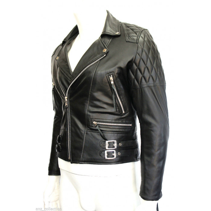 Desperado Men's Biker Style Motorcycle Real Classic Cowhide Fashion Leather Jacket