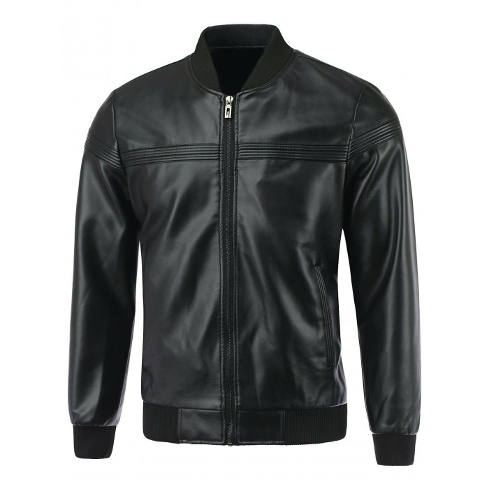 Men's Lambskin Bomber Leather Jacket