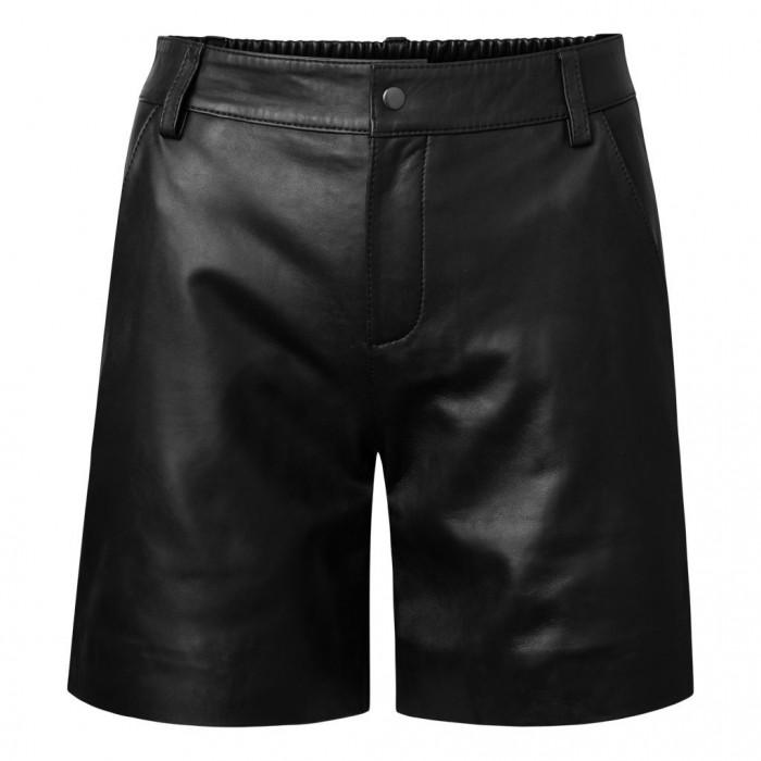 Men's Lambskin Elasticized Leather Shorts