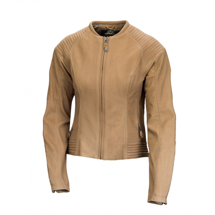 Women Light Tan Sheepskin Vintage Motorbike Fashion Leather Jacket