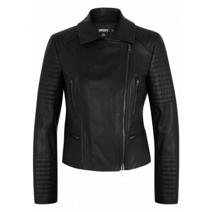 Women Black Sheepskin Biker Style Fashion Leather Jacket