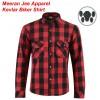 Men's Cotton Flannel Road Armoured Kevlar Lined Biker Shirt