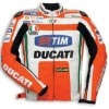 Men's Ducati CORSE Valentino Rossi Replica Motorbike Leather Jacket