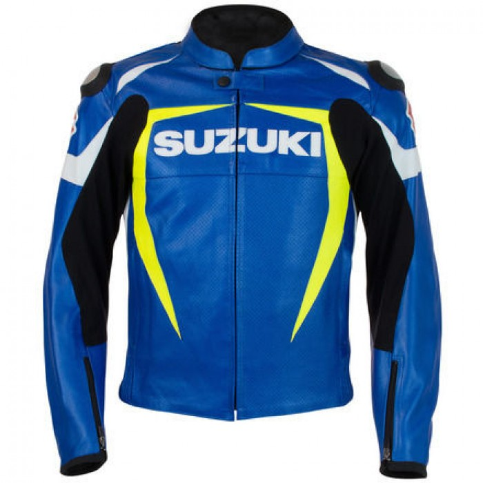 SUZUKI GSXR Men's Custom Motorbike Racing Motorcycle Leather Jacket