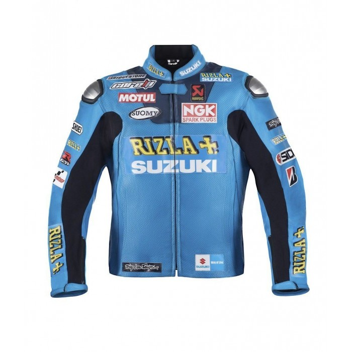 Men's Motogp Suzuki Rizla Racing Motorcycle Leather Jacket