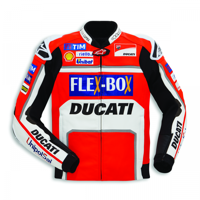 Men's Jorge Lorenzo Ducati Flexbox Blouson  Motogp 2017 Leather Motorcycle Jacket