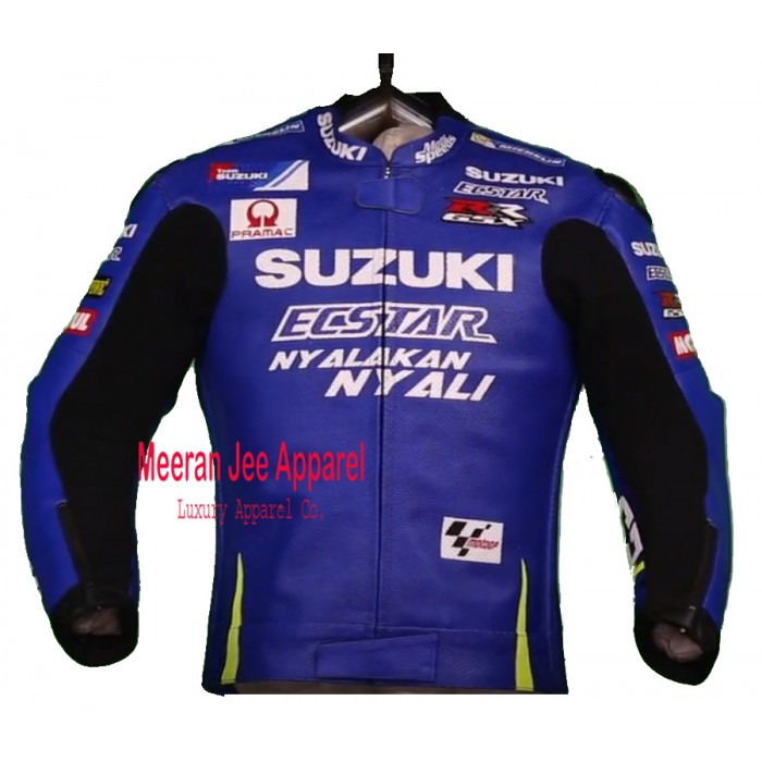 Men's Andrea Iannone Suzuki MotoGP 2017 Racing Leather Jacket