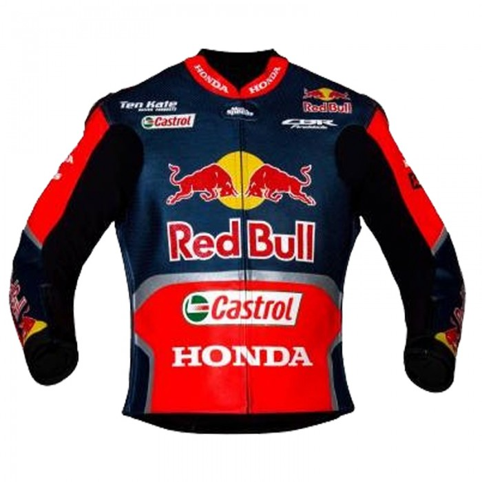 Men's Nicky Hayden Honda Redbull WSBK 2017 Racing Leather Jacket
