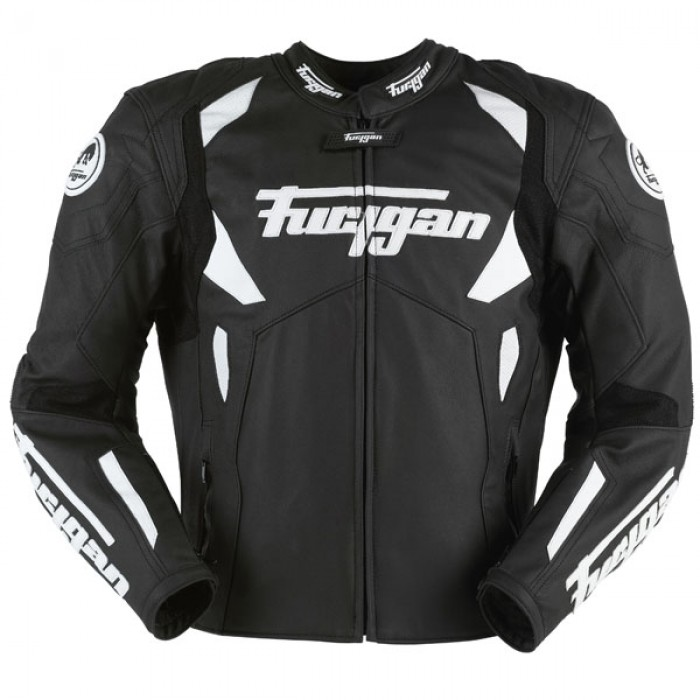 Men's Furygan Spyder 2015 Black Motorbike Racing Leather Jacket