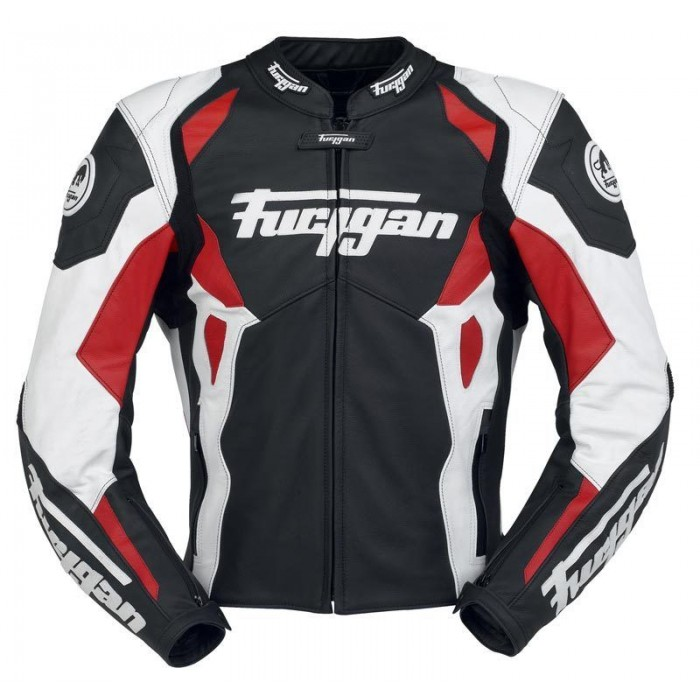Men's Furygan Spyder 2015 Red Black Motorbike Racing Leather Jacket