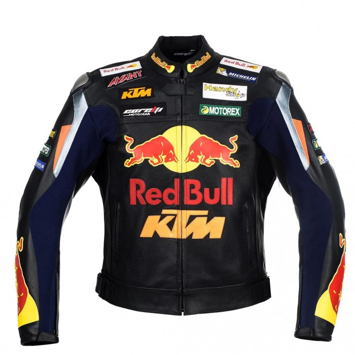 Men's KTM RedBull Motorcycle Racing Leather Jacket