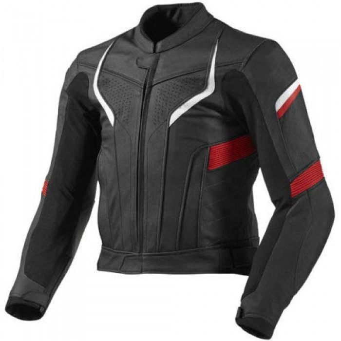 Cowhide Motorbike Racer Leather Jacket