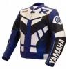 Yamaha R, R1, R2 White Blue Motorbike Racing Leather Jacket