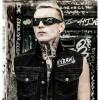Hyraw Punk Goth Nevermind Rocker Skull Jeans Denim Vest