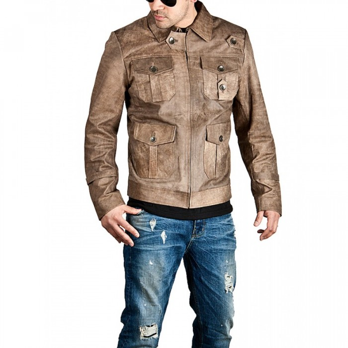 The Expendables 2 Jason Statham Brown Leather Jacket