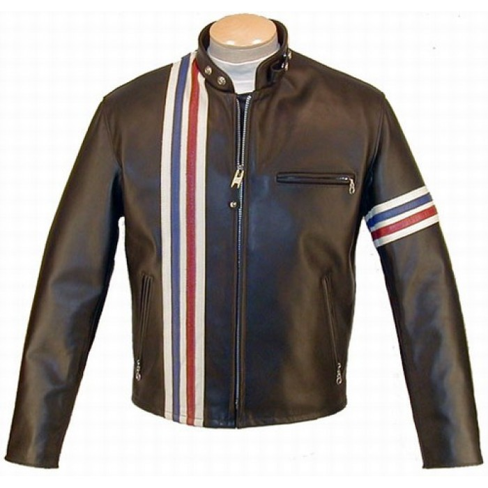 Easy Rider Peter Fonda USA Flag Biker Leather Jacket