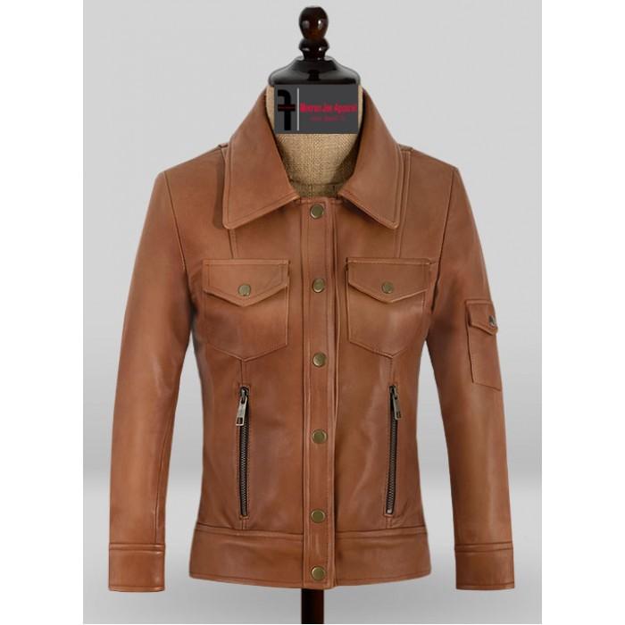 Gigi Hadid Sheepskin Replica Leather Jacket