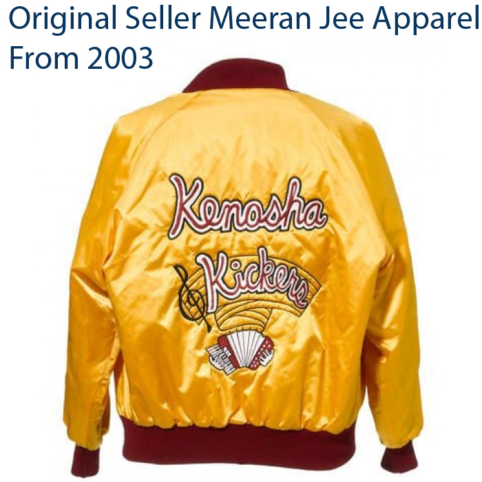 Kenosha Kickers Yellow Satin Gus Polinski Home Alone Replica Halloween Jacket