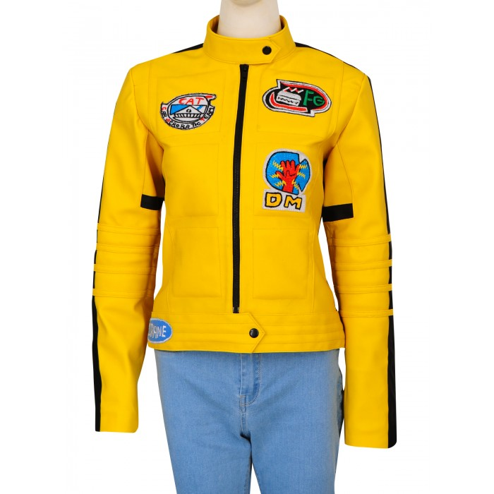 Kill Bill 2 Uma Thurman Yellow Leather Jacket