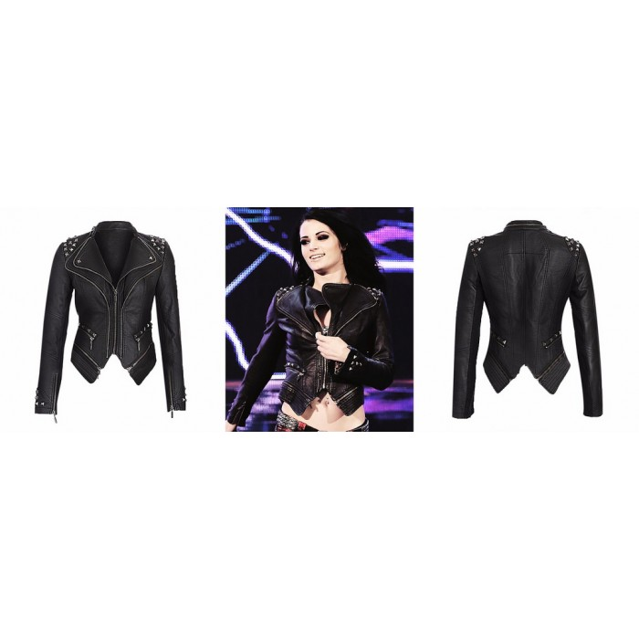 Saraya Jade Bevis Paige WWE Studded Premium Leather Jacket