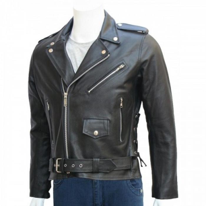 Arnold Schwarzenegger Terminator Biker Leather Jacket