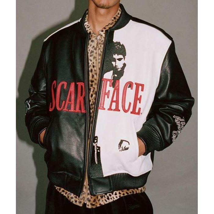 Men's Tony Montana Scarface Al Pacino Bomber Leather Jacket